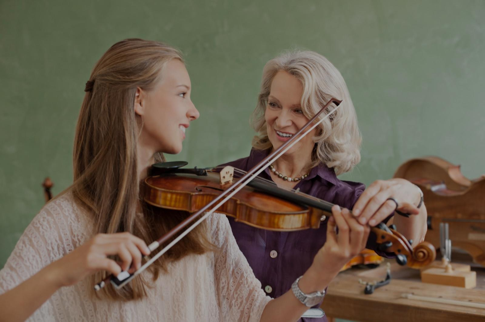 Picture of violin lessons in University
